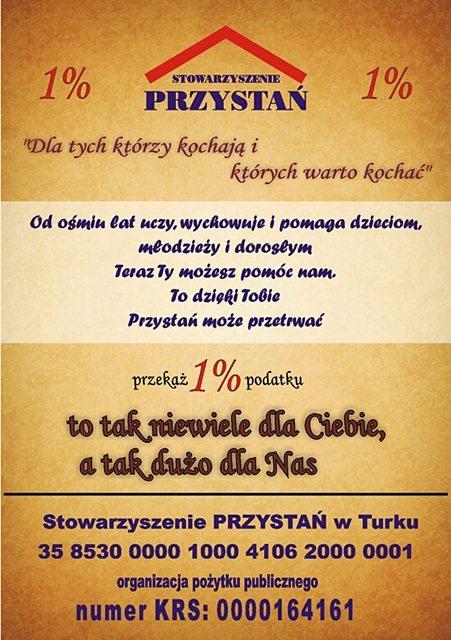 """1% dla Turku: Stowarzyszenie """"Przystań"""""""