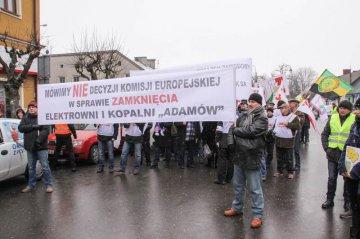 Wideo: Manifestacja przeciw zamkni�ciu elektrowni