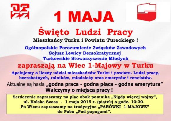 Wiec 1-Majowy w Turku