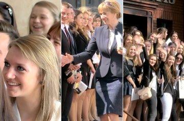 Wideo: Maturzy�ci po�egnali mury I LO, ZST i ZSR