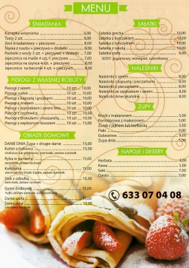 Menu restauracji Sto��wka