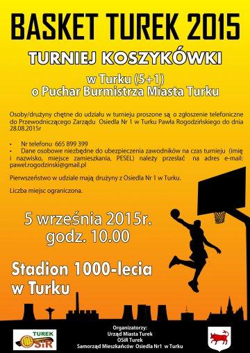 Turniej Koszyk�wki: Basket Turek 2015