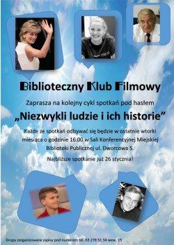 Biblioteczny Klub Filmowy zaprasza na seanse