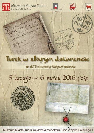 """Wystawa """"Turek w starym dokumencie"""""""