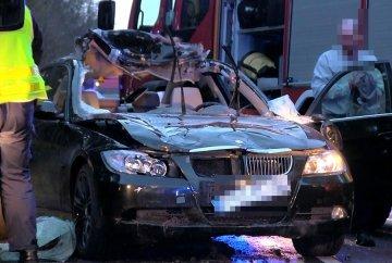 Wideo: �o� wtargn�� pod nadje�dzaj�ce BMW....