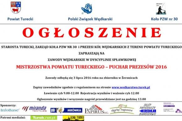 W�dkarskie Mistrzostwa Powiatu - Puchar...
