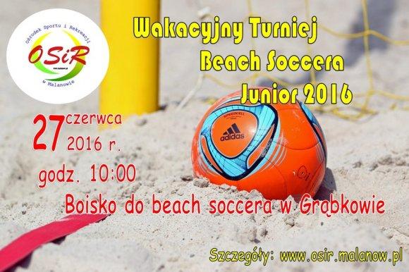 Wakacyjny Turniej Beach Soccera Junior 2016