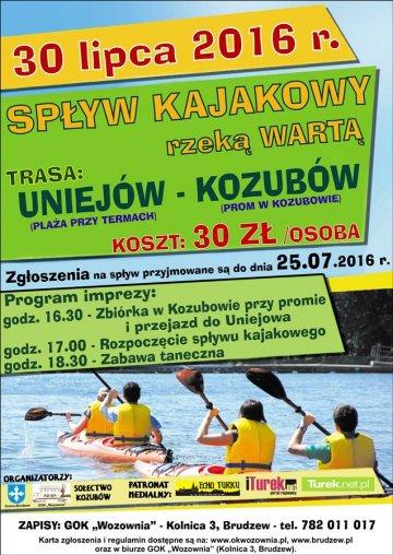 Sp�ywa Kajakowy rzek� Wart�