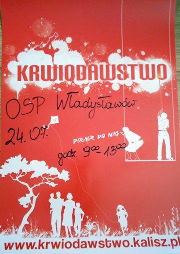 Akcja poboru krwi z OSP W�adys�aw�w