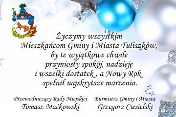 Życzenia Gminy i Miasta Tuliszków