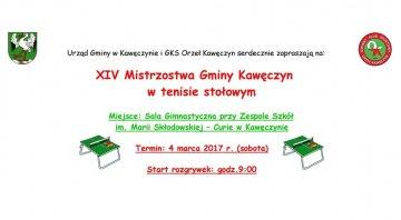 XIV Mistrzostwa Gminy Kawęczyn w Tenisie...