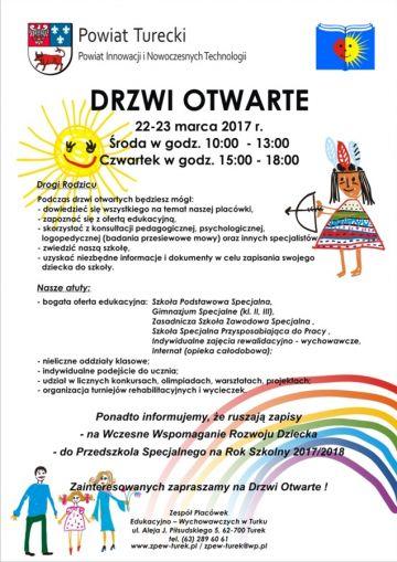 Drzwi Otwarte Zespołu Placówek Edukacyjno-Wychowawczych już 22 i 23 marca