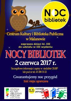 Noc Bibliotek w Malanowie