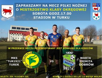 MKS Tur 1921 Turek vs Warta Eremita Dobrów