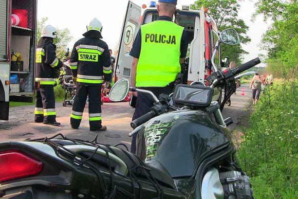 Piętno: Położył motocykl na prostej drodze a...