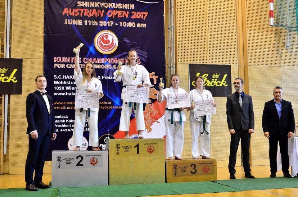 Karatecy wywalczyli w Austrii trzy medale - foto: Barbara Alexandra Lichtblau-Zakrzańska