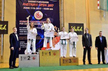 Karatecy wywalczyli w Austrii trzy medale