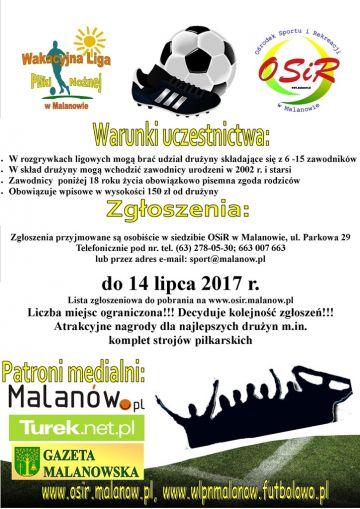 Wakacyjna Liga Piłki Nożnej w Malanowie