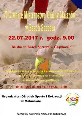 VI Otwarte Mistrzostwa Gminy Malanów w Beach Soccera