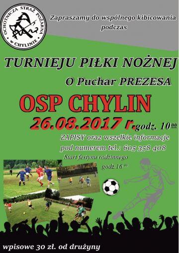 Turniej Piłki Nożnej o Puchar Prezesa OSP Chylin