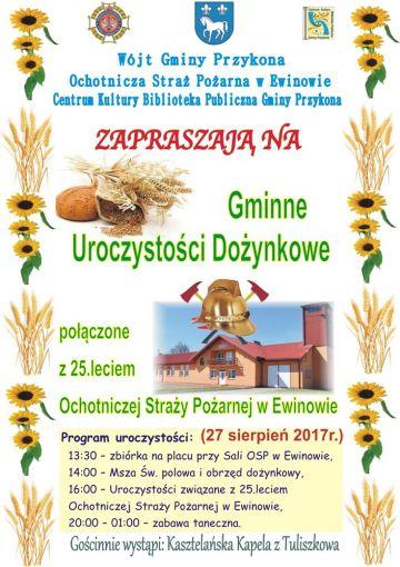 Gminne Dożynki w Ewinowie i 25-lecie OSP