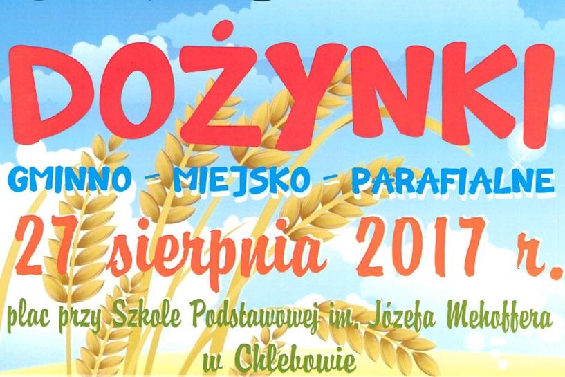 Chlebów: Gminno-Miejsko-Parafialne Dożynki już 27 sierpnia