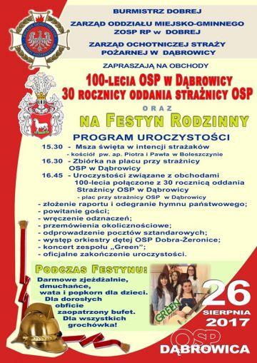 100-lecie OSP w Dąbrowicy