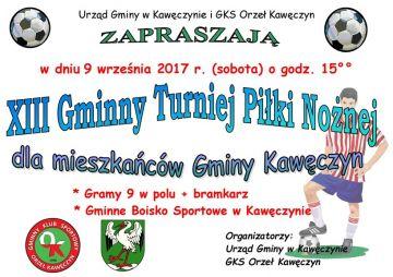 Kawęczyn: XIII Gminny Turniej Piłki Nożnej już...