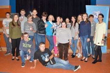Zajęcia z młodymi-aktywnymi w sali MDK. Było...