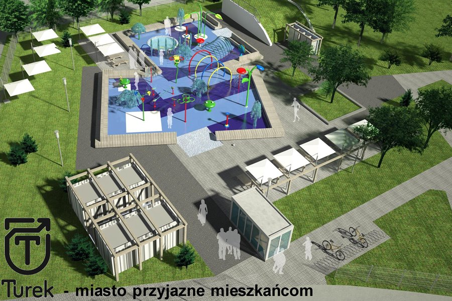 Wodny Plac Zabaw to początek renowacji OSiR - foto: miastoturek.pl