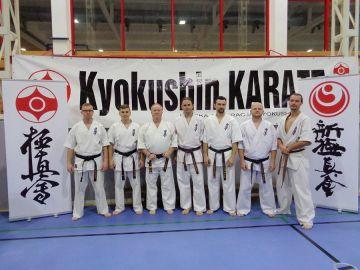 Karatecy na szkoleniu