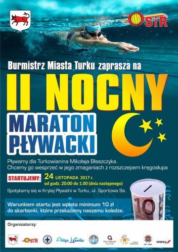 Przepłyną nocą setki kilometrów! Pływacki maraton dla Mikołaja