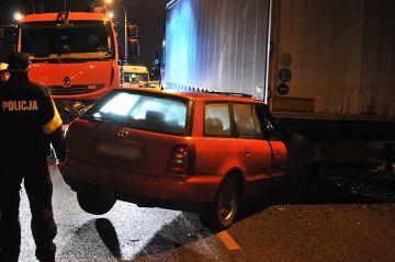Turek: Audi wbiło się pod TIR-a