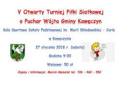 V Otwarty Turniej Piłki Siatkowej o Puchar Wójta Gminy Kawęczyn