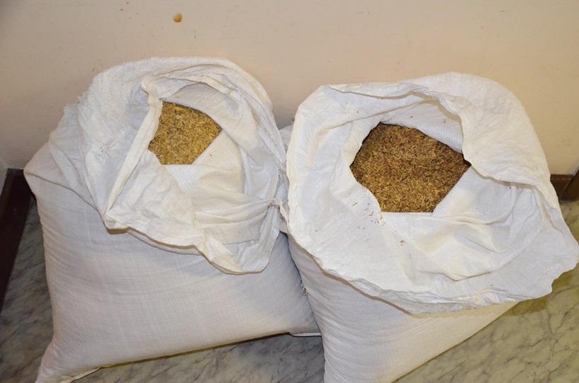 Koźmin: Wiózł 28 kilogramów tytoniu - foto: materiały operacyjne KPP w Turku