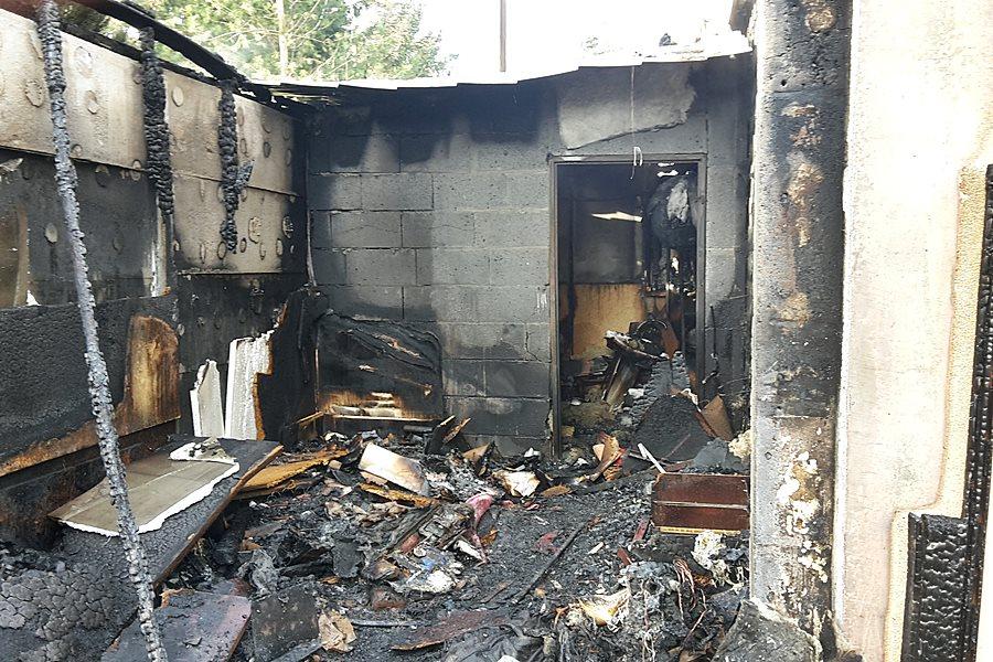 Dobra: Ogień objął cały dom