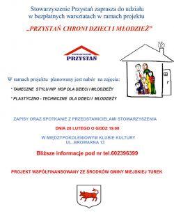 Zajęcia taneczne i plastyczno-techniczne w Przystani
