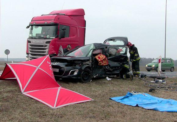 Wideo: Zderzenie z ciężarówką w Brudzyniu....