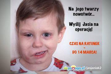 Jaś z Władysławowa chce pokonać chorobę....