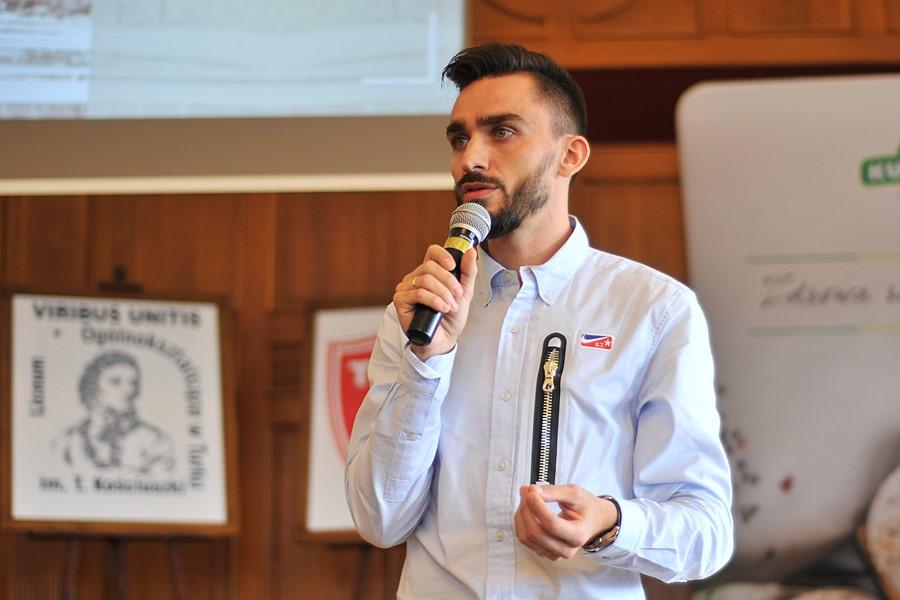 Konferencja z mistrzem świata w bieganiu - foto: M. Derucki