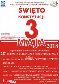 Święto Konstytucji 3 Maja w Brudzewie