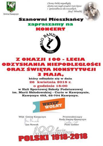 Koncert Big Bandu Turek w SP w Kawęczynie