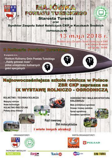 Kaczki Średnie: Zajrzyj na Majówkę Powiatu Tureckiego, odwiedź  IX Wystawę Rolniczo-Ogrodniczą