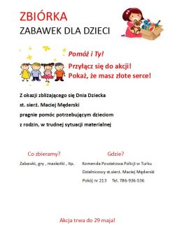 Zbiórka zabawek ze st. sierż. Maciejem Męderskim
