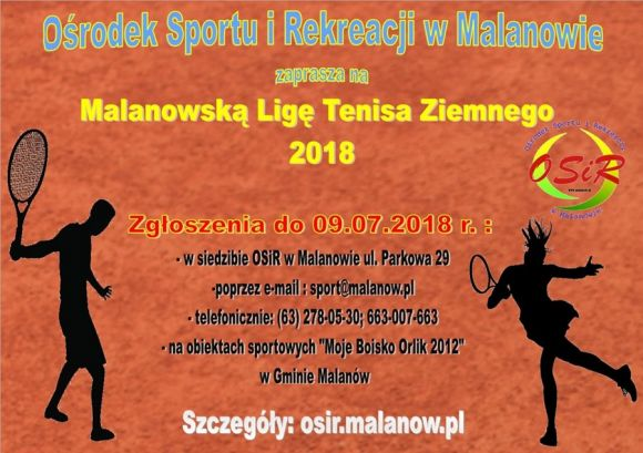 Malanowska Liga Tenisa Ziemnego 2018
