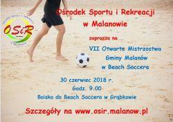 VII Otwarte Mistrzostwa Gminy Malanów w Beach Soccera