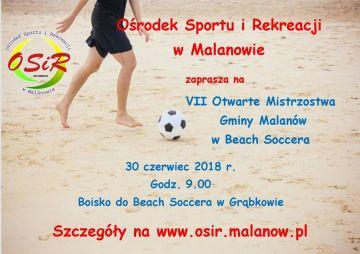 VII Otwarte Mistrzostwa Gminy Malanów w Beach...