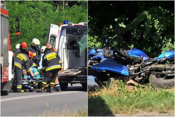 Gm. Turek: Poważny wypadek motocyklisty